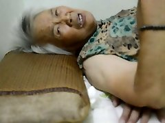 Chinese Granny With Painful Climax