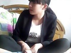 Chinese northeast middle school girl handjob and feetjob