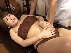 Masseur secretly penetrated with hot wife next her husband
