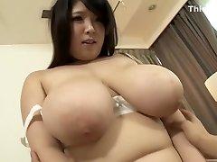 Hottest Japanese model in Astounding Big Tits, BBW JAV vid