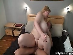 Hard sex with fatty after rubdown