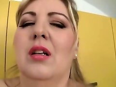 Unbelievable chesty MILF Mira D attending in impressive blowjob porn