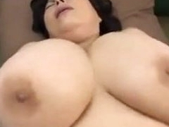 Japanese Mature with huge bosoms