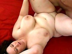 Brunette busty milf Jem Love Button