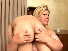 BBW cracks and humiliates weak hot blonde