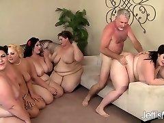 5 Kinky BBWs fucked by 3 peckers