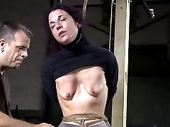 brunette woman in bondage slave