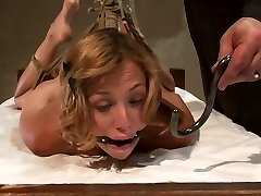 Helpless Blonde In Hogtie Struggling Through Climax After Orgasm. - HogTied