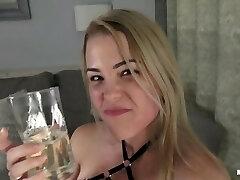Slave gets rough 30 slaps spit piss guzzling cum eating - Mya Quinn