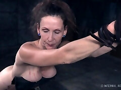 Mature woman Paintoy Emma gets slapped and punished in the dark room