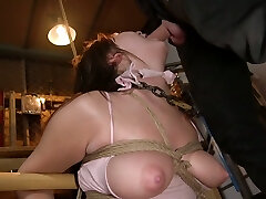 This babe's curvy bod is outta control and she loves wild bondage sex