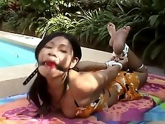Intruder hogties Chinese cutie