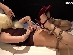 Amazing hook-up video Hogtied wild will enslaves your mind