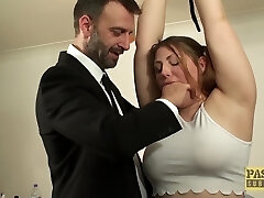 British BBW rammed and disciplined by kinky older guy