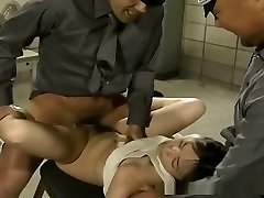 Poor prisoner gal gets hardcore fucked by military fellows
