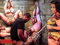 Becca Diamond's First Rope Suspension with Slew of BDSM Fuck-a-thon