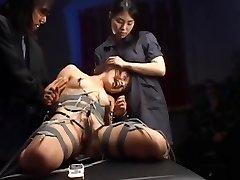 schoolgirl restraint vibrator & electro torture