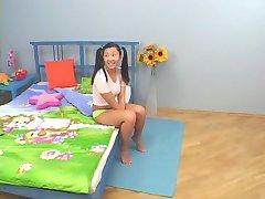Amateur Kazach Teen and Black Dick. Anal. Rinsing a Teeth