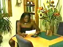 Black shemale boss fucks her male employee