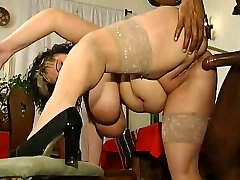delicious fatty enjoys a good-sized black cock