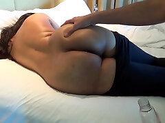 Desi booty showcase in black tights