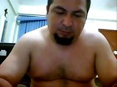 gordito hetero pajero en la webcam