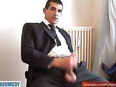 The vendor guy get serviced his huge cock by us against a contract !