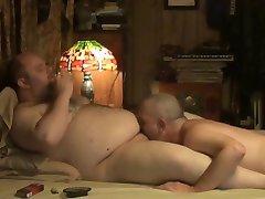 White Daddy Swallows  Young Bear Cum