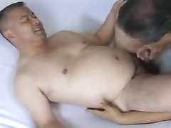 Japanese mature man orgy