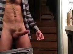 Hairy Hunk Masturbates off & Cums