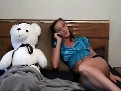A Gal And Her Teddy Bear