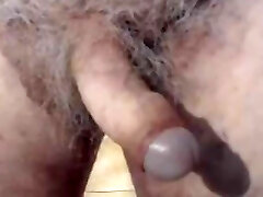Dad showing uncut cock on cam for the first time