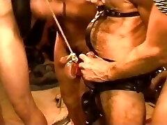 Five man sensual CBT, BDSM orgy featuring bears and teddies. pt 1