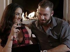 Puerto Rican sex addict Sheena Ryder gets nailed doggy by her bearded fellow