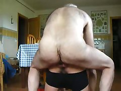 Spanish hairy daddy fucks