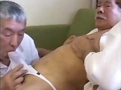 Japanese Daddies Fuck Threesome