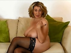 British Mature Waiting for Hard schlong in her Mouth.
