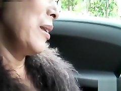 Warm Asian granny fellate cock and fuck