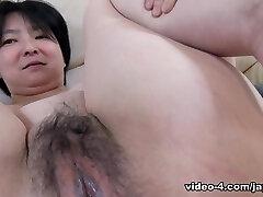 Skinny Japanese Cougar Submits To Man Sausage - JapanLust