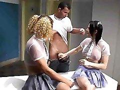 T-girl Threesome