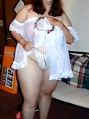 Big butt amateur in sheer lingerie