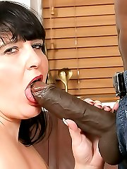 Fat ass slut in fishnets hooks up with a guy for a better deal at her job
