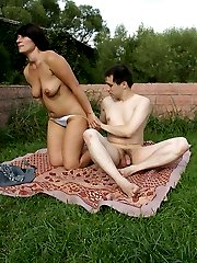 Nasty chubby brunette gets a hard A-style fuck