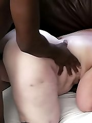 Sexy heavy BBW in fishnets offers pussy to finalize a deal with her first client