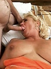 Busty grandmother loving a hard penis pounding