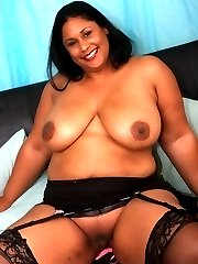 Hot black BBW slut gets bent over and pounded in her phat ass!