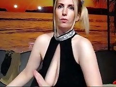 Super-naughty Ann jiggles her floppy tits at the camera