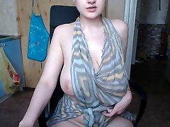 saggy big boobs tatted emo dame touching herself