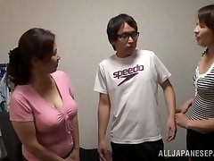 Japanese AV Model is a naughty whore in mff threesome