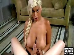 Blonde wiuth huge breats masturbates